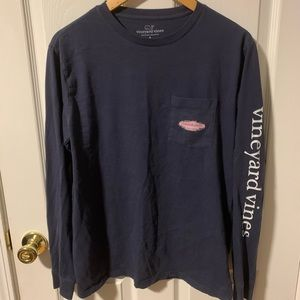 vineyard vines navy blue long sleeve